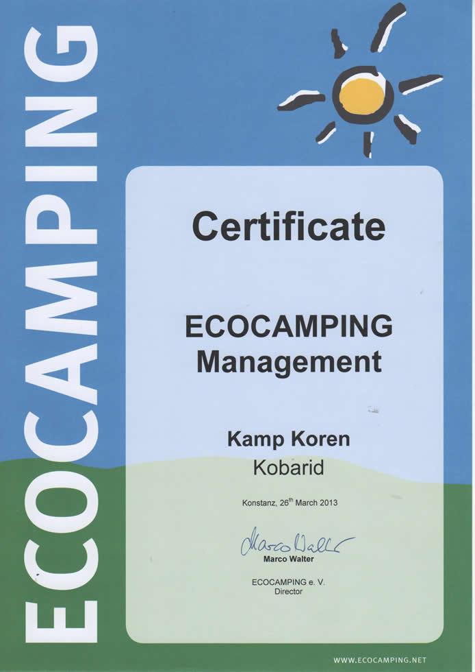 Eco certificate